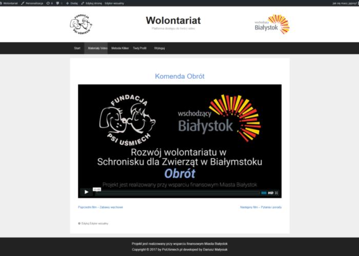 Wolontariat.PsiUsmiech.pl – Strona Internetowa